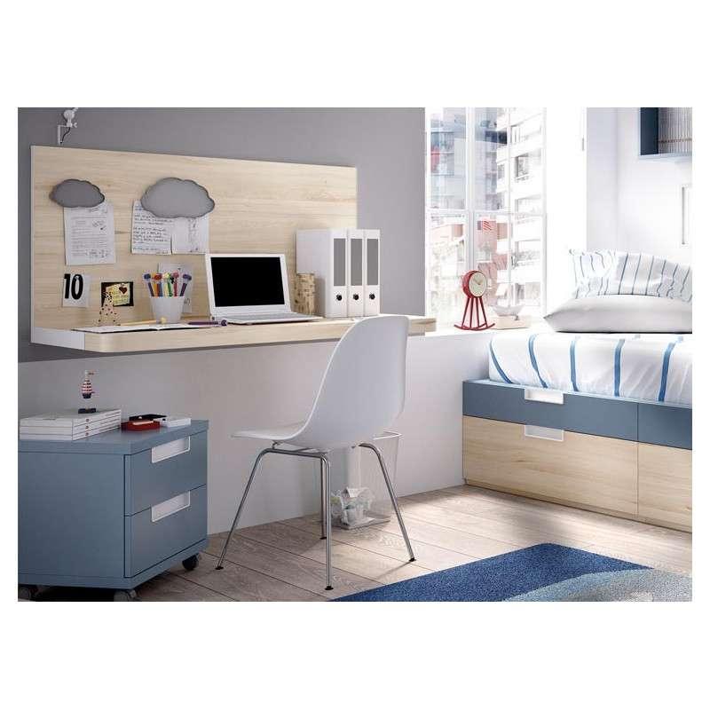 Habitación juvenil con cama nido modular