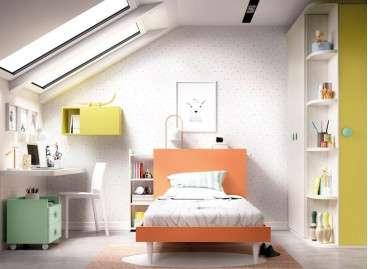 Conjunto juvenil con cama individual