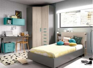 Composición juvenil con cama individual