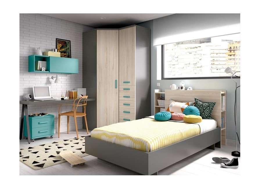 Composició juvenil amb llit individual