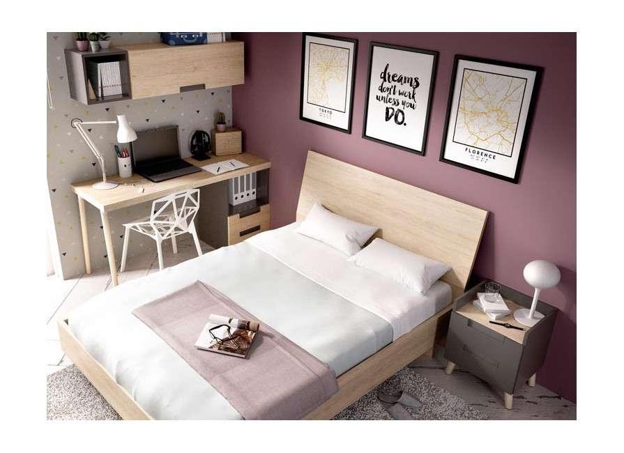 Dormitorio juvenil con escritorio