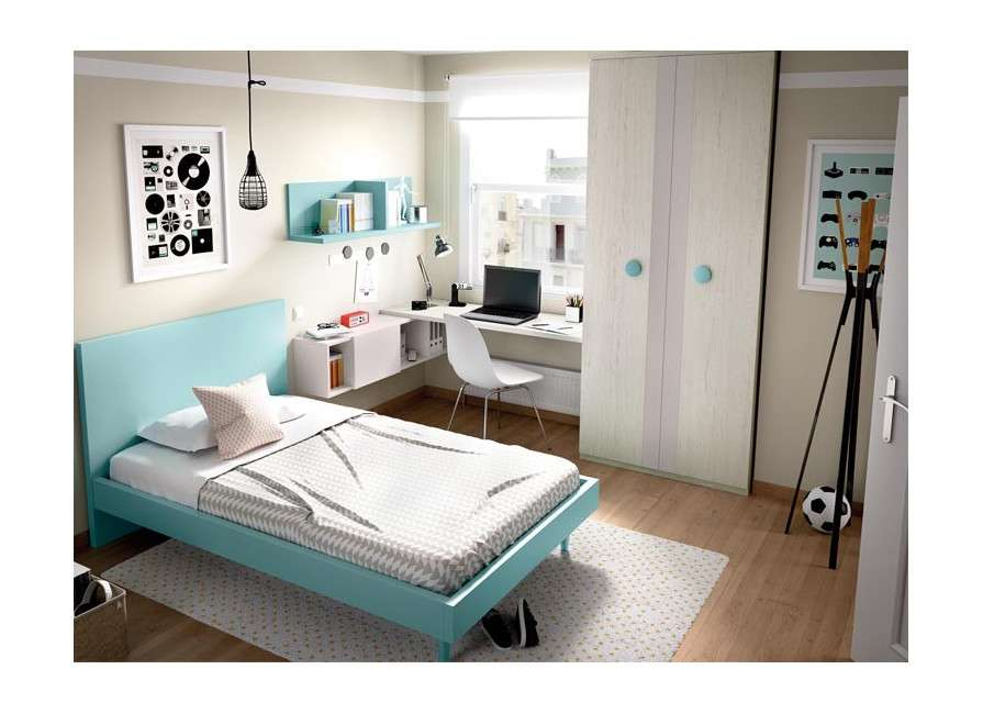 Dormitori juvenil amb llit de 135 cm