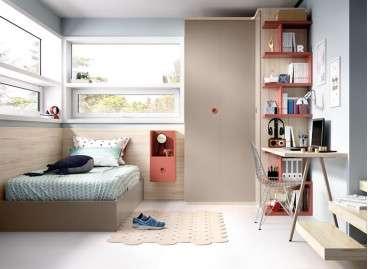Habitació juvenil amb llit individual elevable