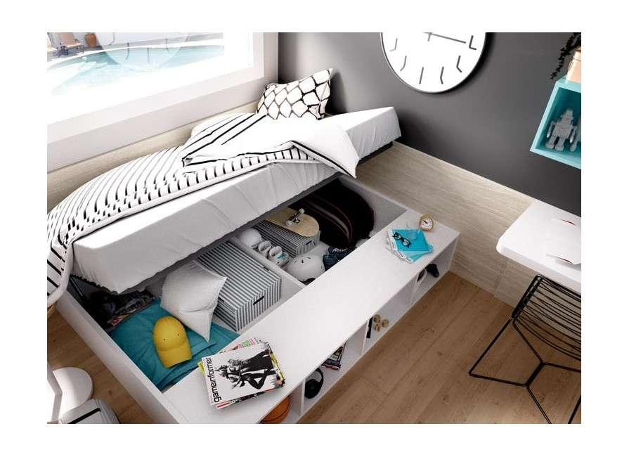 Conjunto  juvenil con cama individual elevable
