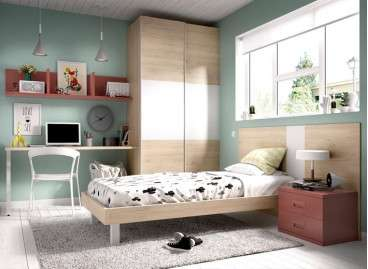 Habitación juvenil amb llit individual