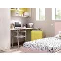 Conjunto para habitación juvenil con cama individual