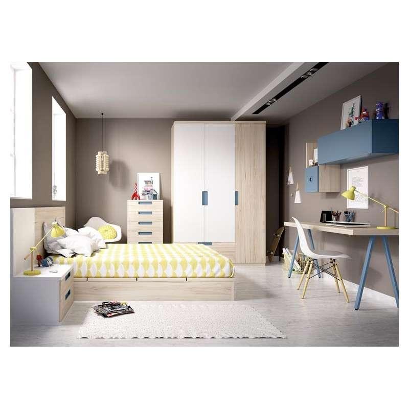 c112acf88 Conjunto para habitación juvenil con cama tatami de 135 cm