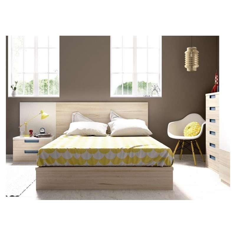 Conjunt per a habitació juvenil amb llit tatami de 135 cm
