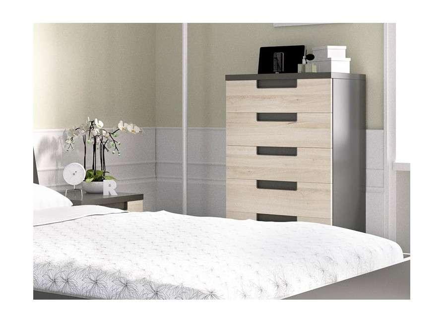 Composición para dormitorio con cama de 135 cm
