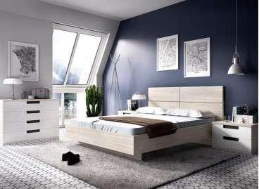 Composició de dormitori amb llit de 135 cm