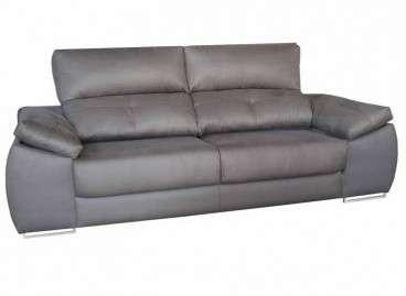 Sofá 3 plazas Badía, con asientos deslizantes