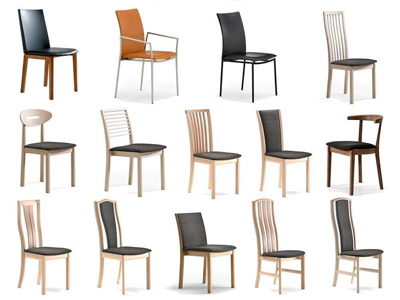 """Diversos tipos de sillas para ilustrar el inicio del artículo titulado """"elegir tu silla de comedor ideal parte 1"""""""