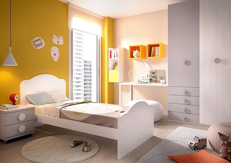 Habitación infantil con cama individual