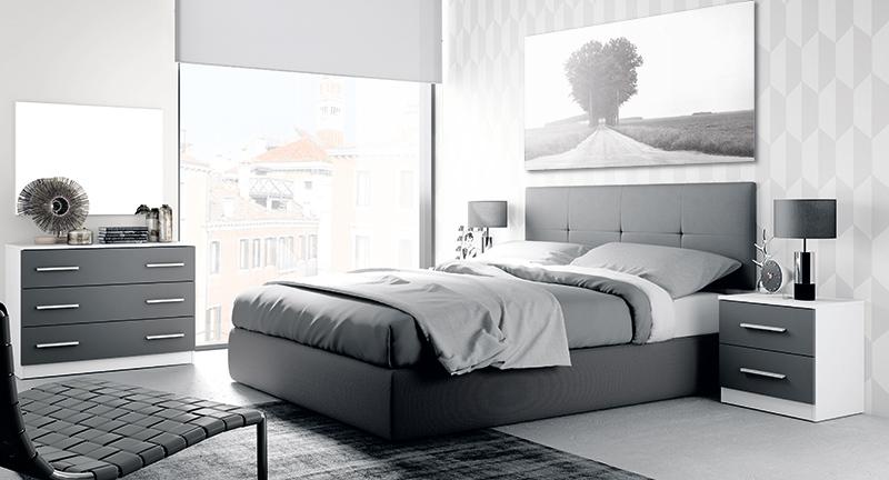 Dormitorio minimalista blanco y gris para tendencias en decoración para 2015