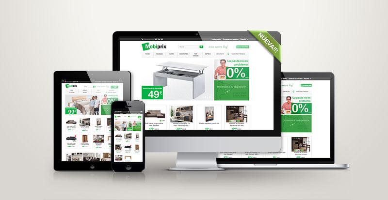 La nueva web de mobiprix está totalmente adaptada a cualquier dispositivo y vienen con descuento de hasta 100€