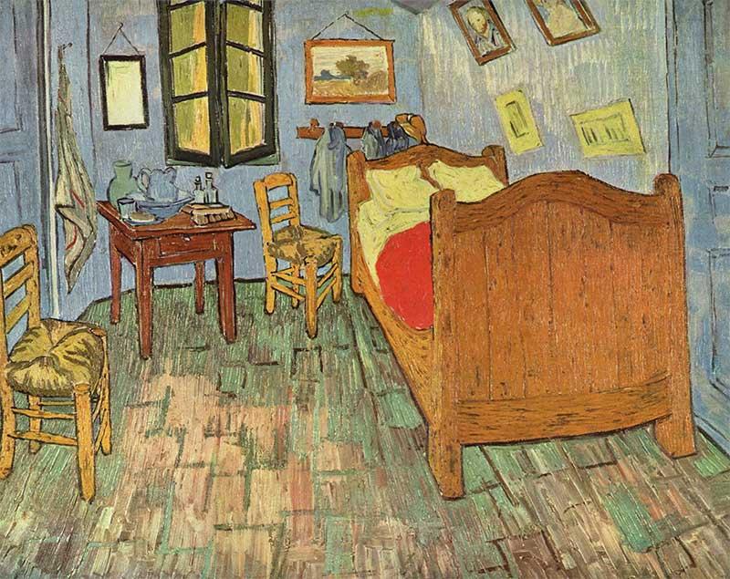 Haz como Van Gogh y dibuja tu habitación, pero hazlo con tus muebles ideales