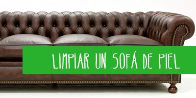 como limpiar un sofá de piel