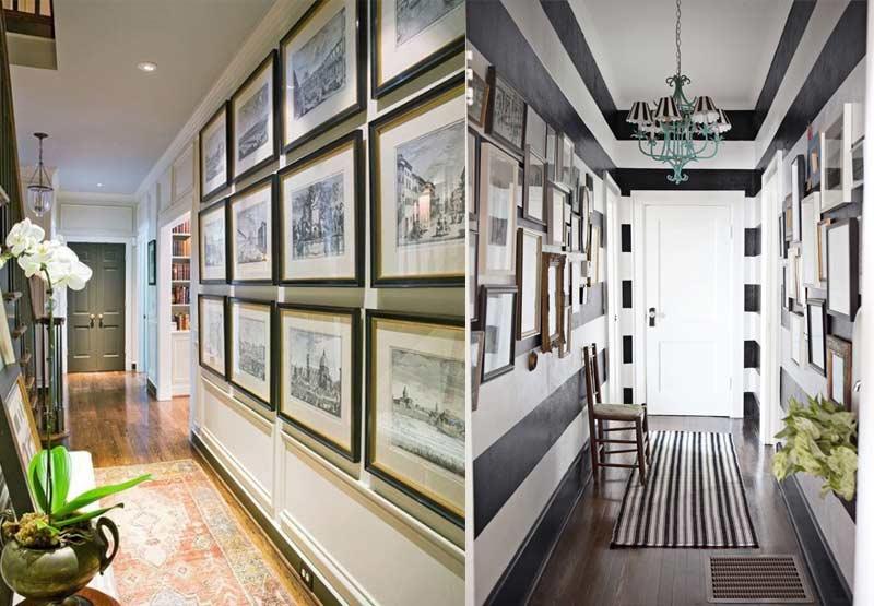 decorar pasillos con cuadros
