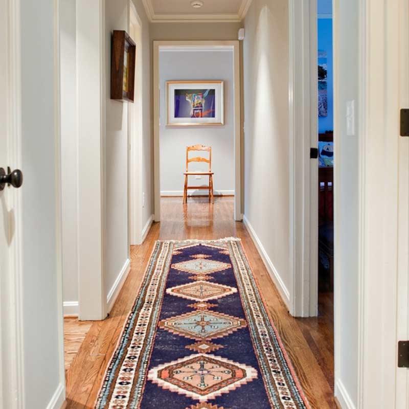 decorar pasillos con alfombras