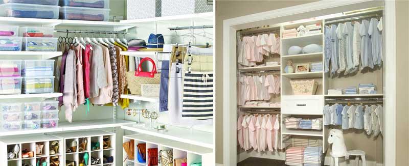 El tipo de ropa y los artículos y accesorios influyen a la hora de saber cómo se organiza un armario.