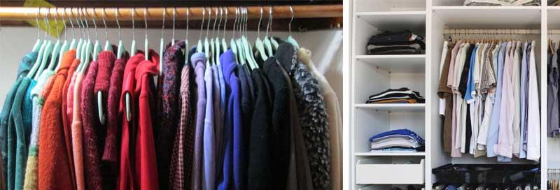 Además de tener tu armario organizado por colores, puedes optar también por usar tonos parecidos y armonías cromáticas.