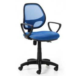 silla con brazos y malla juvenil