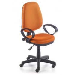 silla juvenil de escritorio naranja