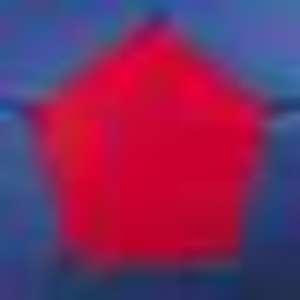 Puff azul y rojo